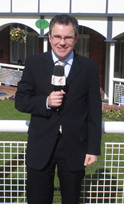 Peter presenting for Channel 4 racing